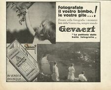 W0891 GEVAERT la pellicola delle belle fotografie - Pubblicità 1931 - Advertis.