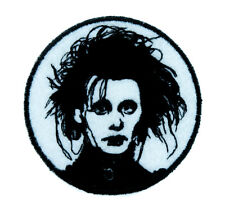 Edward Scissorhands Patch Iron on Applique Gothic Clothing Classic Movie Tim Bur