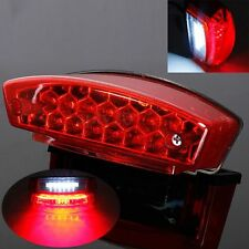 Universal Motorcycle 21 LED Rear Tail Brake Light License Plate Integrated Lamp