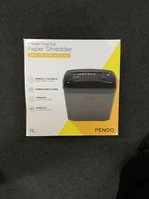 6 Sheet Cross Cut Paper Shredder-Ideal For Home+Office-Pendo Brand-Warrantee Inc