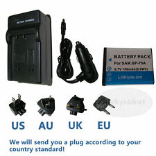 BP-70A Battery+charger For Samsung PL120 PL122 ES70 ES71 ST60 ST61 ST90