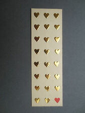 BOOKMARK Turnowsky's Boutique ART Card Embossed Gold Hearts