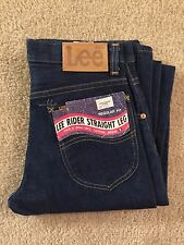 NEW NOS Vintage Lee Rider Straight Leg 200-0147 Size 28x36 Made in USA
