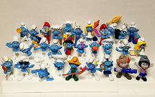 Lot of 30 Smurfs Figures Small Plastic Toys Figurines