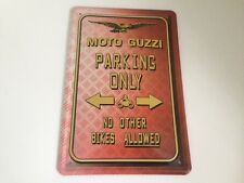 Moto Guzzi parking only Blechschild 20x30 cm Parkplatz Garage Carport Schild 4