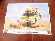 CITROEN ZX WINNER 1991 PARIS-DAKAR RALLY ARI VATANEN/BERGLUND AUTOSPORT POSTER
