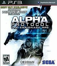 Alpha Protocol (Sony PlayStation 3, 2010) video game