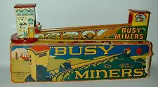 Louis Marx Tin Wind Up Busy Miners Complete With Partial Original Box 1930s