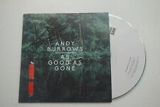 ANDY BURROWS - AS GOOD AS ONE HAND SIGNED AUTOGRAPHED PROMO CD RAZORLIGHT