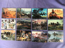 WILD WEST TRADING CARD SET ART OF MORT KUNSTLER OLD WEST COWBOYS INDIANS SEE PIC