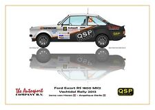 Greetings card QSP Ford Escort RS 1800 MK2 #22 van Haren Derks Version 1