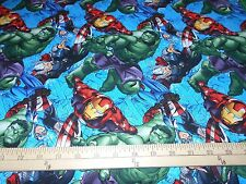 "1 Yard Marvel Avengers ""Character Toss""  Fabric"