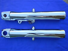 HARLEY CHROME TOURING SHAVED FORK SLIDERS 2000-2013, FLH MODELS *** EXCHANGE***