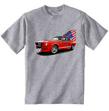 MUSTANG 1967 500 GT INSPIRED - NEW COTTON GREY TSHIRT - ALL SIZES IN STOCK