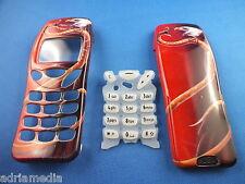 Front Back Cover Tastatur für Nokia 3210 Gehäuse Handyschale Neu Schlange Optik
