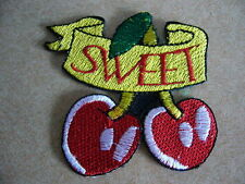 SWEET,, patch, ricamate, aufbügler, badge, Iron on, badge, Rockabilly, CILIEGE