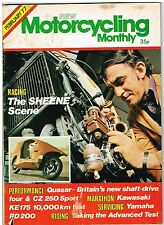 Motorcycling Monthly Feb 1977 Quasar KE175 RD200 CZ250 Barry Sheene Dominator