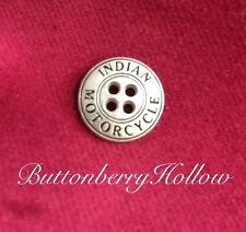 """One (1)  Indian Motorcycle Brushed Silver Tone 4-Hole Metal Sewing Button 5/8"""""""
