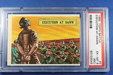 1965 Topps Battle Cards - #3 Execution At Dawn - PSA Ext/Mt 5