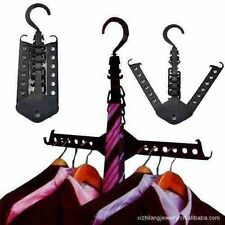 Folding Magic Hangers Clothes SCARVES BELTS SHIRTS Hook Rack HANGING TROUSERS