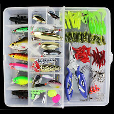 101pcs/Lot Fishing Lures Crank Bait Hooks Minnow Bass Baits Tackle with Box Case
