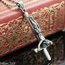 Inverted cross 316L Stainless Steel Pendant Necklace Satan Satanism jewelry
