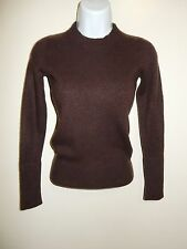 GAP 100% CASHMERE CHOCOLATE BROWN CREWNECK LONG SLEEVES SWEATER XS