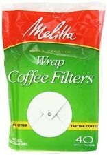 12 Pack Melitta Coffee Filters for Percolators White Wrap Around, 40-Count