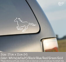 RUNNING HORSE OUTLINE Reflective  Car Truck  Sticker Window Decal Best Gift