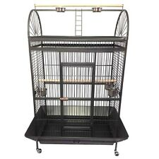 X Large 178cm Play Top Roof Parrot Aviary Bird Cage Perch Ladder On Wheels A08
