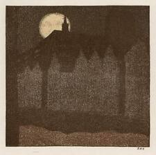 BURGENLANDSCHAFT in VOLLMOND NEBEL - Johann Vincenz CISSARZ - 1910 JUGENDSTIL