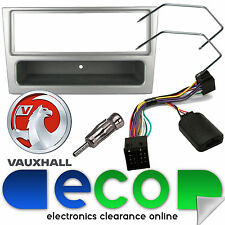VAUXHALL Corsa C 2000-04 Car Stereo Silver Fascia & Steering Wheel Interface Kit