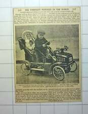 1912 Freddie Newman Kensal Green And Little Tina Youngest Motorists In The World