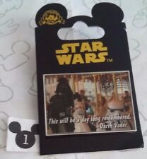 Darth Vader on a Carousel Postcard A Day Long Remembered Star Wars Disney Pin
