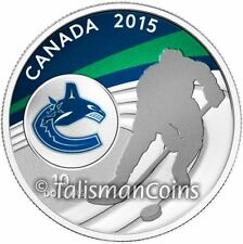 Canada 2015 NHL Vancouver Canucks National Hockey League $10 Silver Reverse Prf