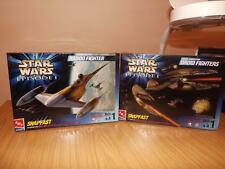 R102: Star Wars Snapfast Kits AMT / Ertl AT-ST Droid & Naboo Fighters MIB
