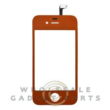 Digitizer with Frame for Apple iPhone 4S CDMA GSM Orange  Front Glass Touch