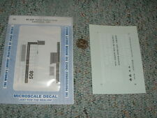 Microscale decals HO MC-4250 Quebec Southern Hood locos 1996+  G148