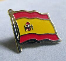 """Spain Flag Pin, Red and Yellow, Metal, Badge, Souvenir 3/4"""", Gold Plated"""