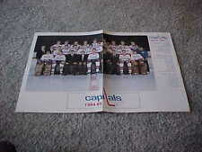 1984 Washington Capitals NHL Fold Out Hockey Team Photo