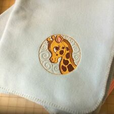 Personalized Embroidery Baby Blanket Giraffe