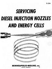 Minneapolis Moline Tractor Diesel Injection and Energy Cells Service Manual