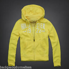 HOLLISTER Neon Yellow  Zip-UP Hoodie Jacket Large NeW L SCRIPPS PIER Sweatshirt