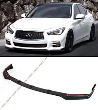 FRONT BUMPER CHIN LIP SPOILER SPLITTERS FOR 2014-2016 INFINITI Q50 BASE PREMIUM
