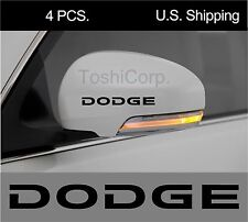 4 DODGE sticker decals Wheels Rims Door Handle Mirror Challenger Charger  BLACK
