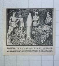 1917 Enormous German Shell Falling On The Western Front Proved Harmless