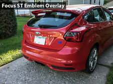2x 2013 Ford Focus ST Front / Rear Emblem Overlay - Red, White, Blue, or Black