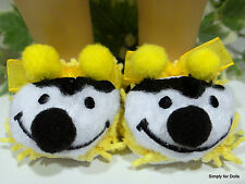 "BUMBLE BEE Yellow & Black DOLL SLIPPERS Shoes for 18"" AMERICAN GIRL Doll Clothes"