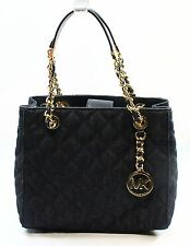 NWT Michael Kors Blue Denim Quilted Susannah Women's Tote Handbag Purse $298