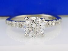 "GIA CERTIFIED 18K 1.01CTW(.81CT F/SI1) Round Diamond Ring Designer "" A. JAFFE """